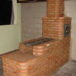 Fogão e forno, acabamento em tijolinho - Modelo: Geraldina