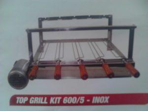 Grill 5 espetos inox