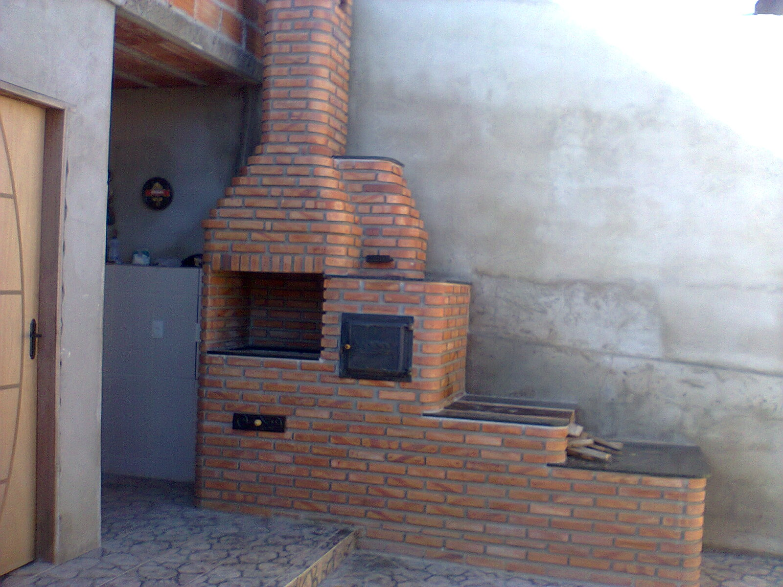 Churrasqueira Com Forno A Lenha 8 Pictures to pin on Pinterest #855C46 1600 1200