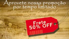 Promoção: Frete 50% OFF