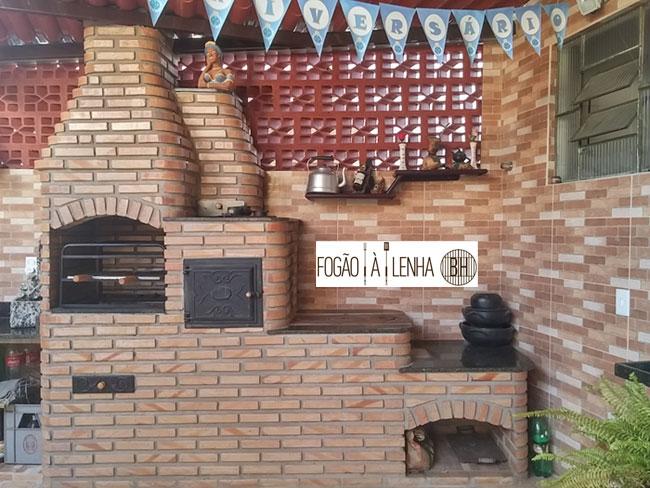 Fogão a Lenha de Tijolinho no Ana Lúcia, Sabará