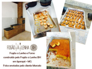 Bolo e biscoitos assados no fogão com forno do Marcelo, de Igarapé