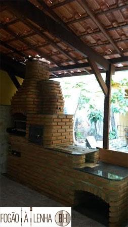Fogão a Lenha de Tijolinho no São Bernardo, BH
