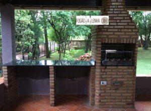 Ronaldo Igarapé 90x67, grill e gaveta cinzeiro inox, 3 paredinhas em paralelo para apoio de granito